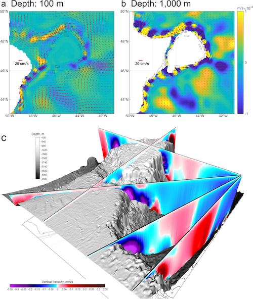 3-D Ocean Particle Tracking Modeling Reveals Extensive Vertical Movement and Downstream Interdependence of Closed Areas in the Northwest Atlantic